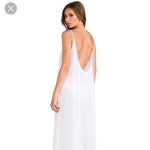 MIKOH Biarritz white maxi dress NWT small